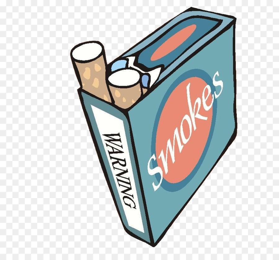 Tobacco smoking cigarette pack. Box clipart cartoon