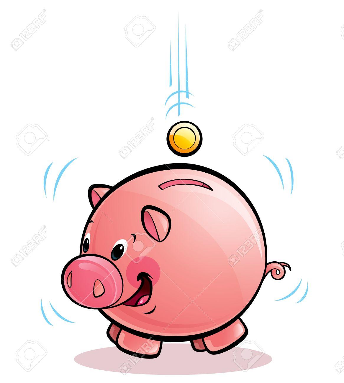 Box clipart cartoon. Money clipground a pig