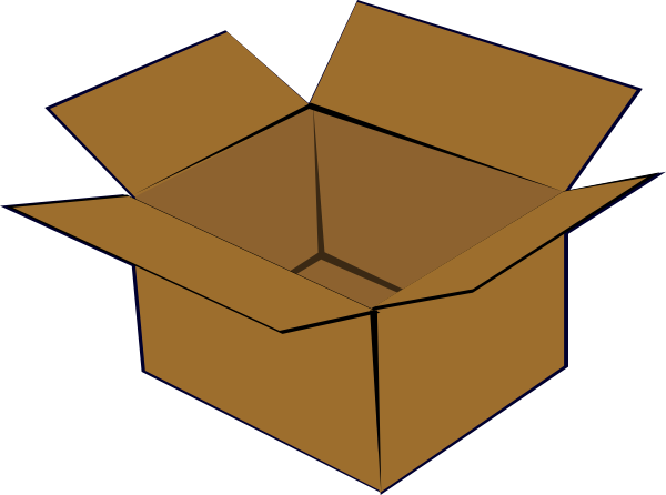 Pencil and in color. Box clipart cartoon