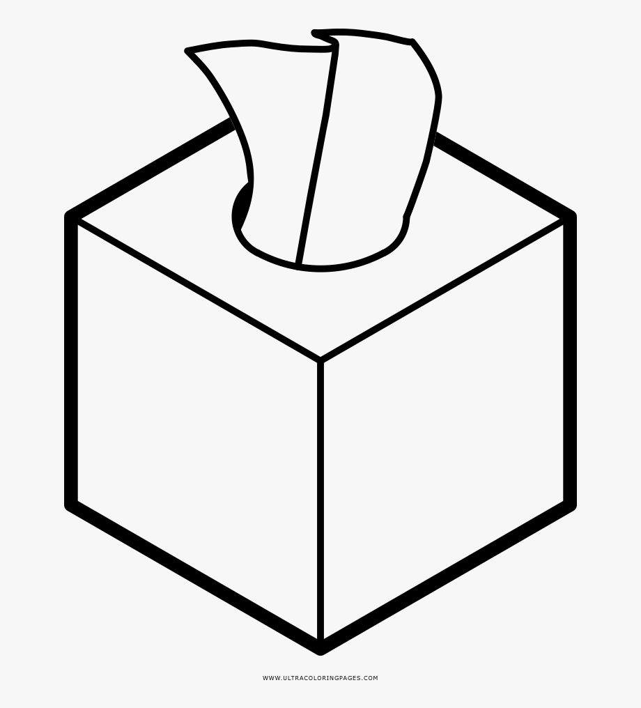 Box page tissue coloring. Boxes clipart colouring