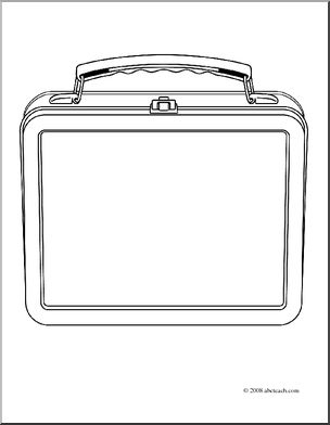 Clip art lunch coloring. Box clipart colouring