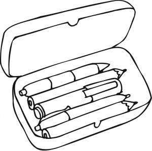 Coloring pages of pencil. Box clipart colouring