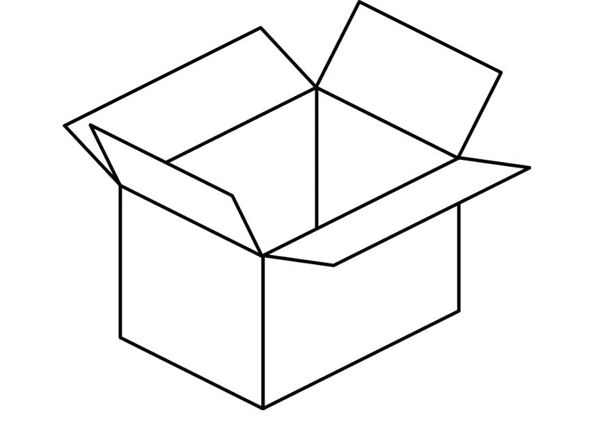 Box incep imagine ex. Boxes clipart colouring