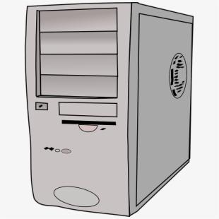 Cpu hardware desktop tower. Box clipart computer