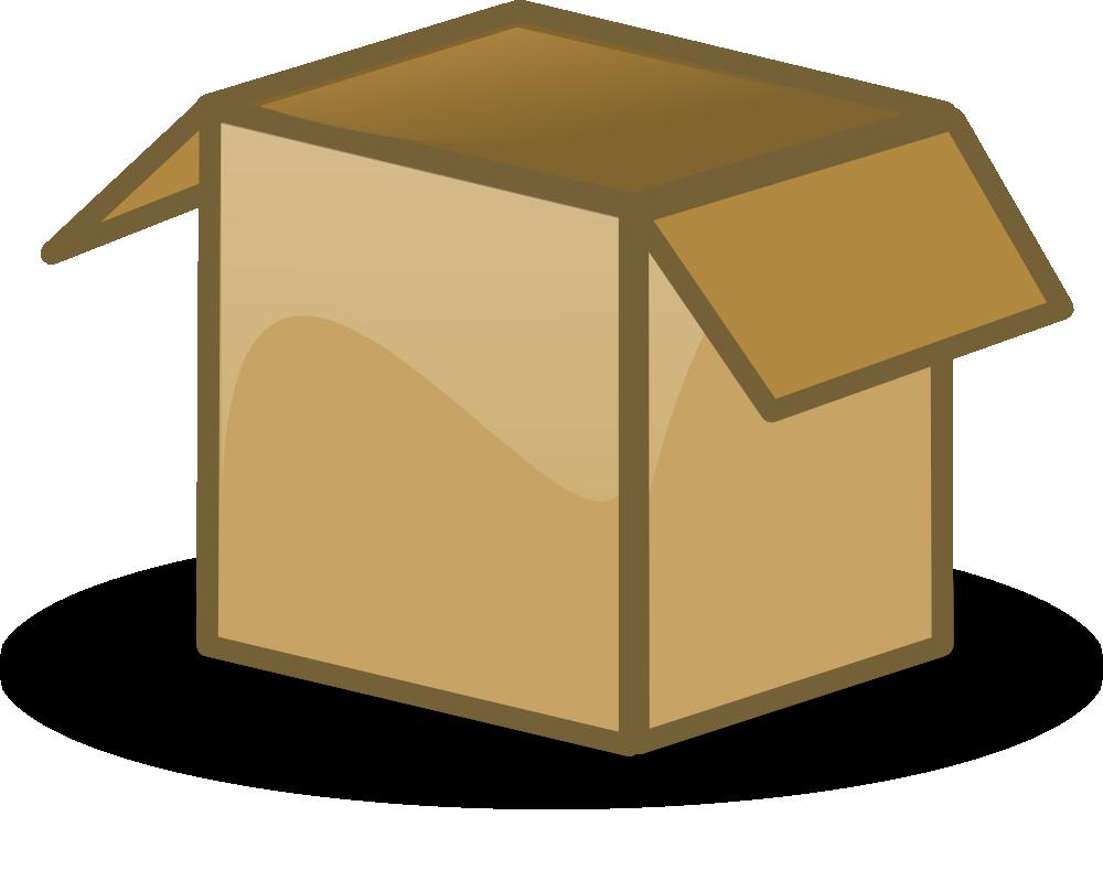 Corrugated box . Boxes clipart cartoon