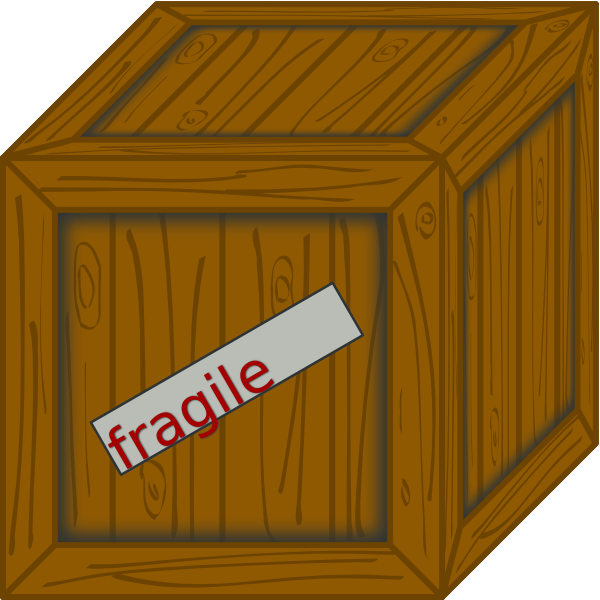 Box clipart crate. Wooden clip art at