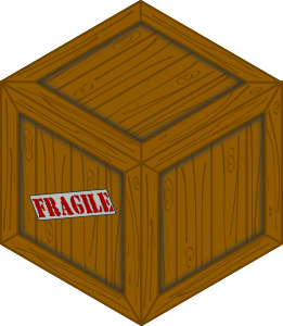 Isometric wooden clip art. Boxes clipart crate