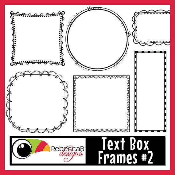 Boxes clipart doodle. Frames text box