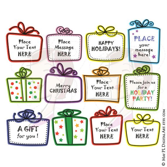 Gift box frames whimsical. Boxes clipart doodle