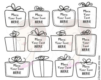Boxes clipart doodle. Gift box frames whimsical