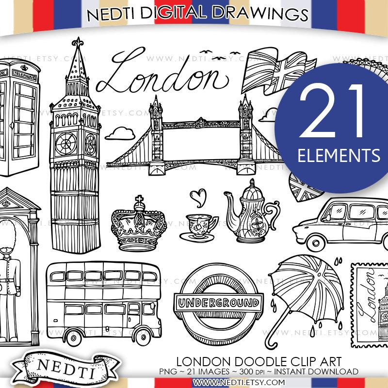 London clip art england. Box clipart doodle
