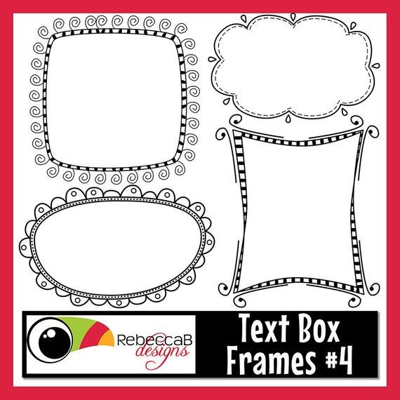 Frames text box . Boxes clipart doodle
