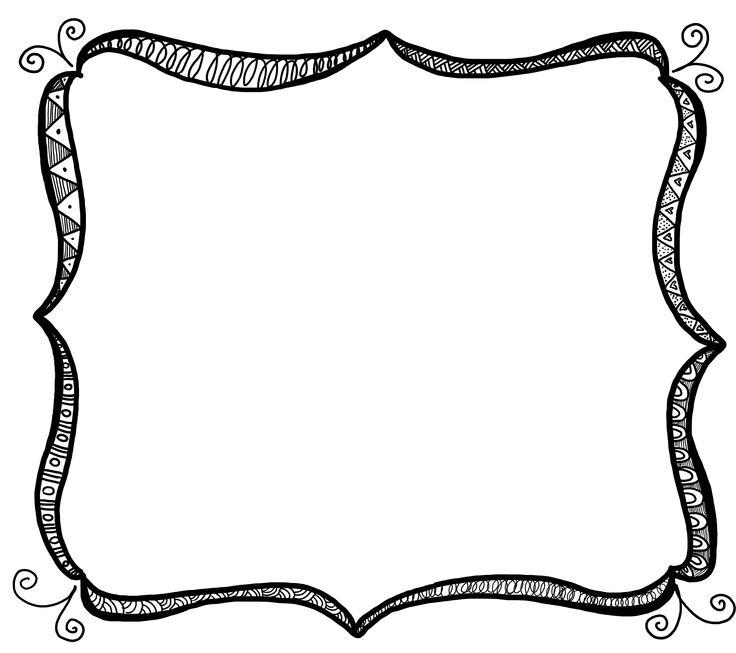 Box clipart doodle. Frame