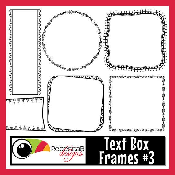 Frames text box clip. Boxes clipart doodle