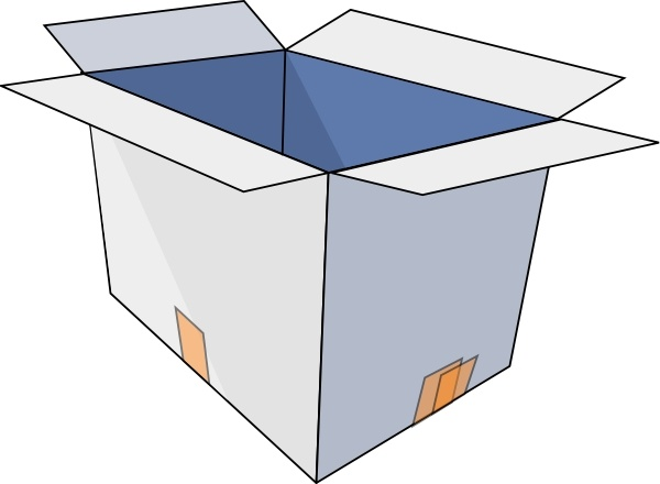Box clipart drawing. Open at getdrawings com
