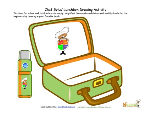 Draw your healthy lunch. Lunchbox clipart nutritious meal