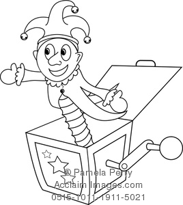 Line of a jack. Box clipart drawing