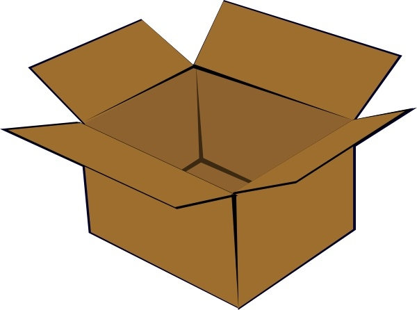 Open box drawing at. Boxes clipart packaging
