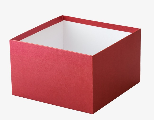 Red side png image. Box clipart empty box