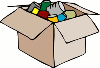 Free cardboard with cans. Box clipart empty box