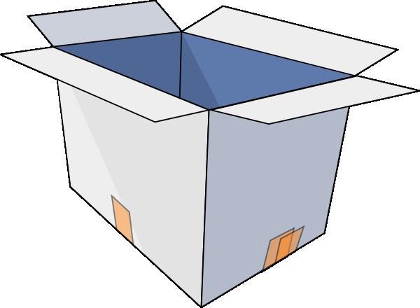 Box clipart empty box.  d open clip