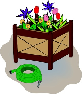 Box clipart flower. Image filled with spring