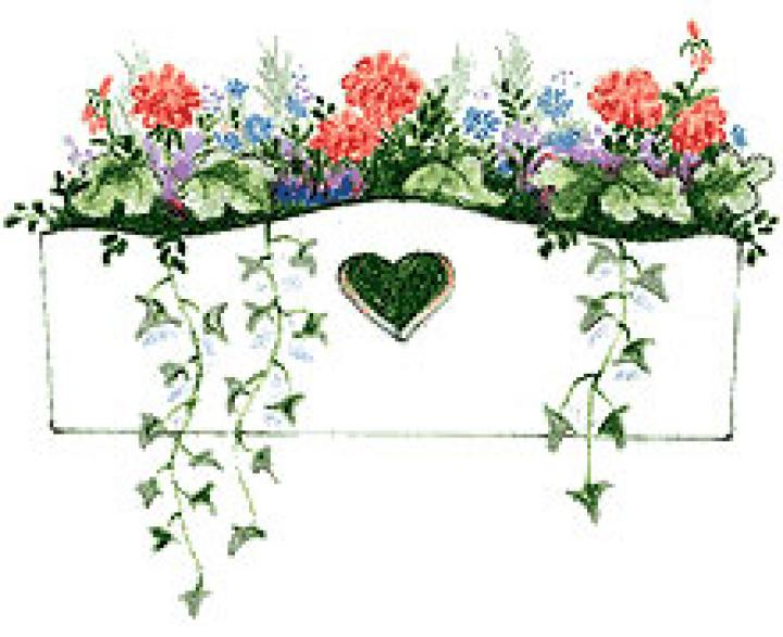 Box clipart flower. How to make window