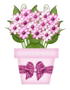 With violets png picture. Box clipart flower