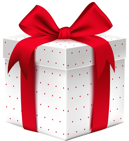 White dotted box with. Gift clipart regalo
