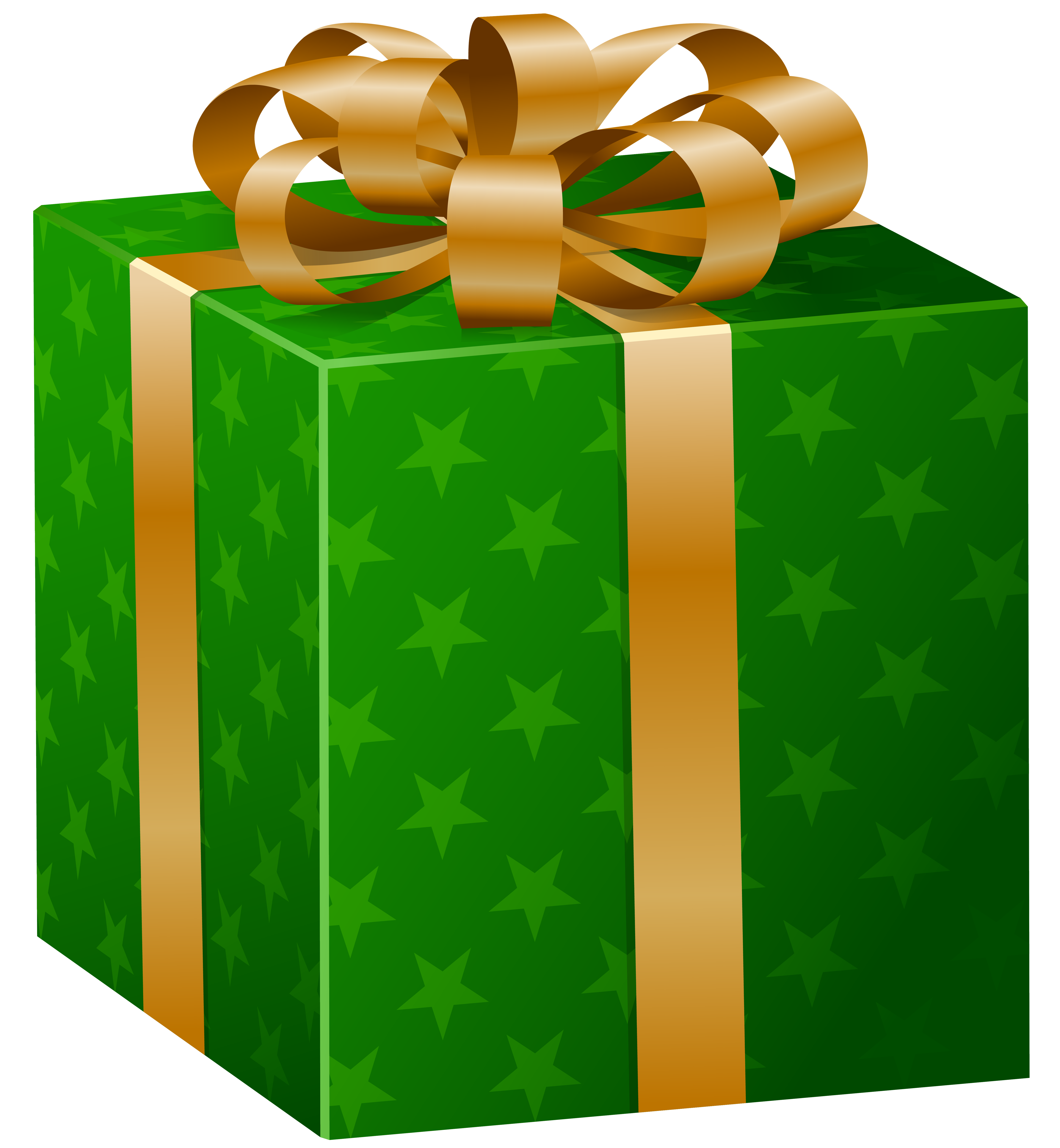 Green box png image. Gift clipart clip art