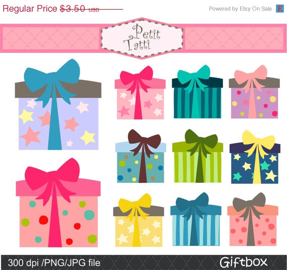 Boxes clipart happy birthday. On sale gift box