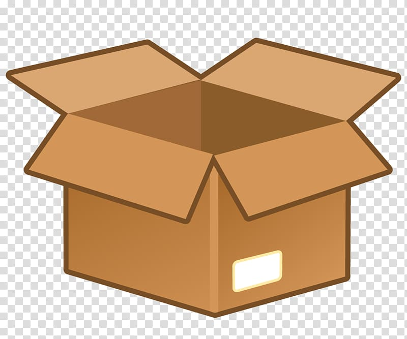 Boxes clipart icon. Brown box illustration cardboard