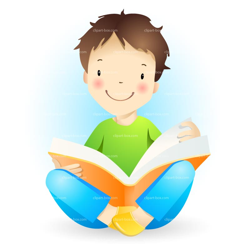 Child reading boy clip. Boxes clipart kid