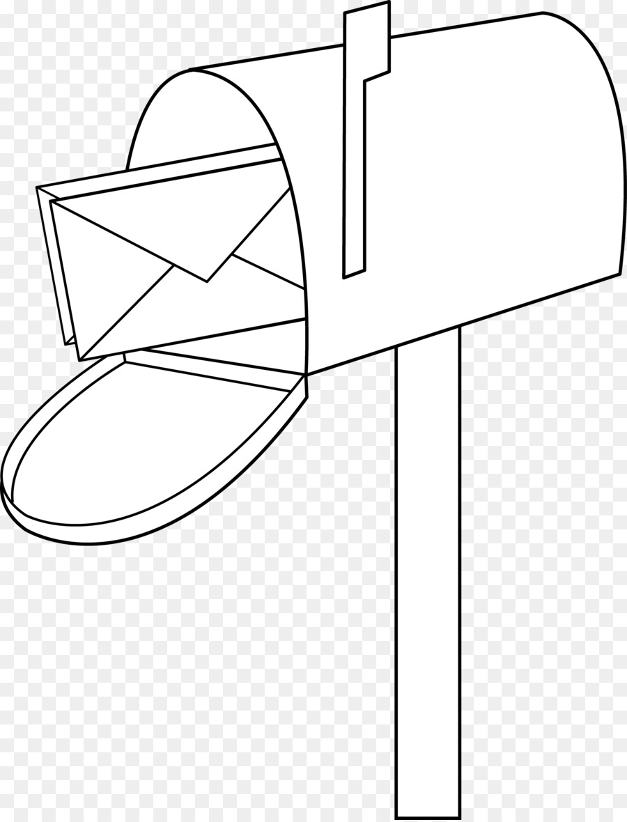 Boxes clipart line drawing. Letter box post clip