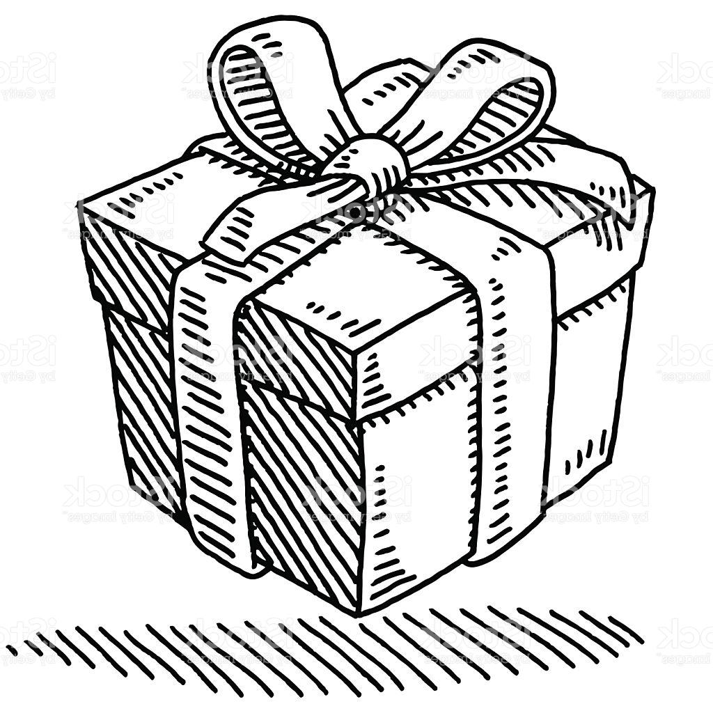 Box clipart line drawing. Gift at getdrawings com