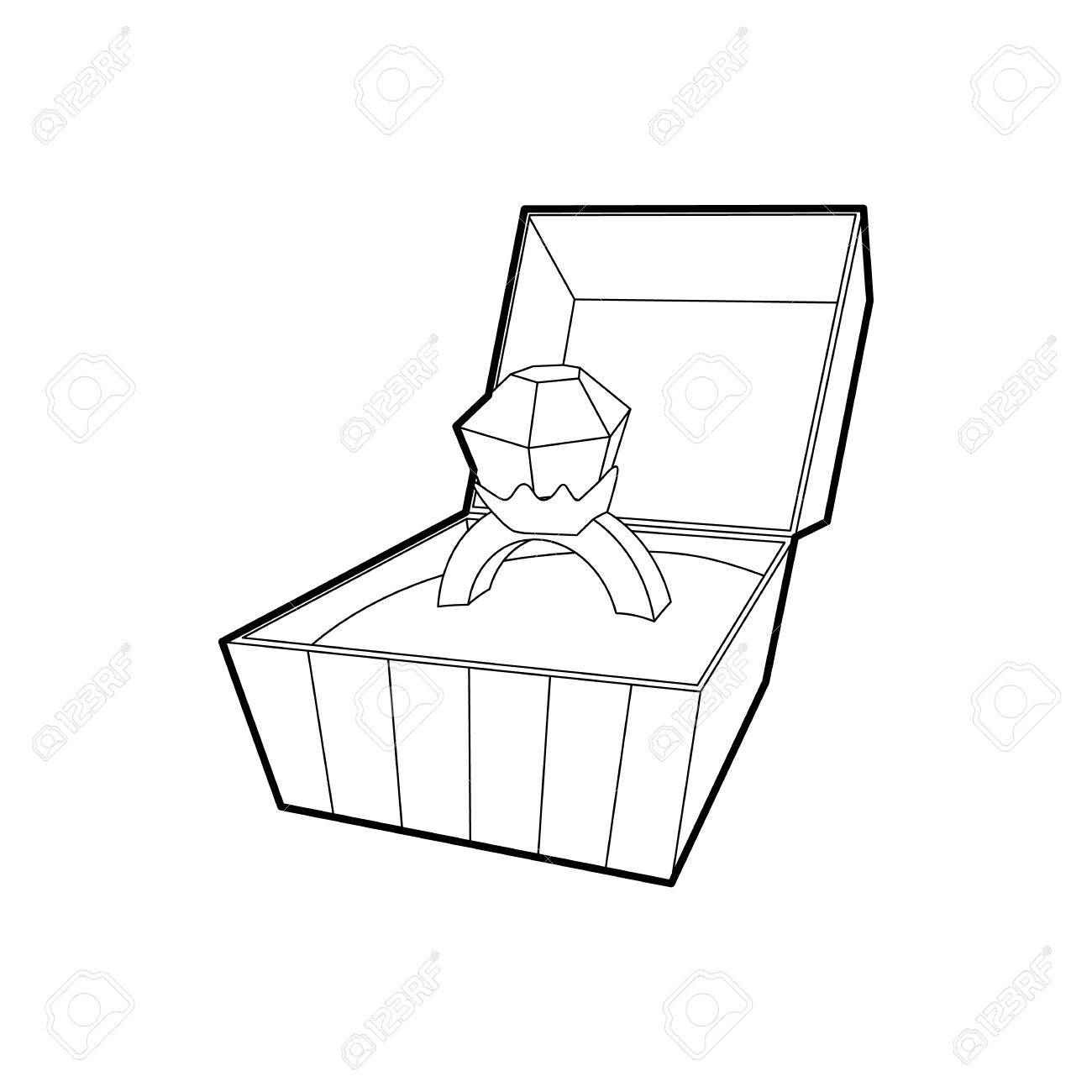 Open at getdrawings com. Box clipart line drawing