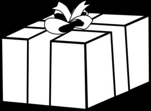 Gift present clip art. Box clipart outline