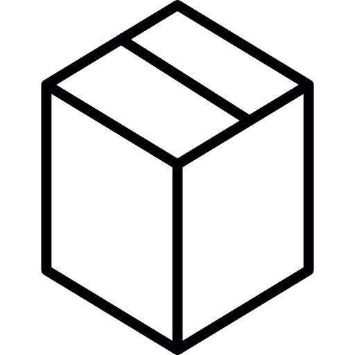 Box clipart outline. Closed boxes carton shapes