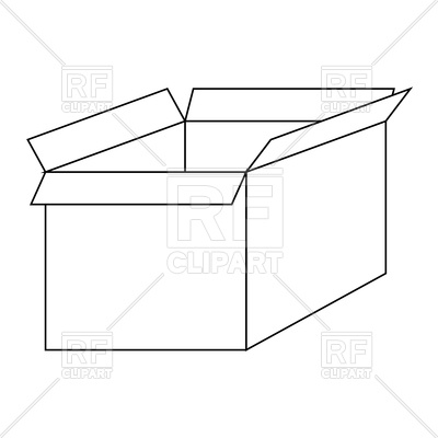 Boxes clipart outline. Box station