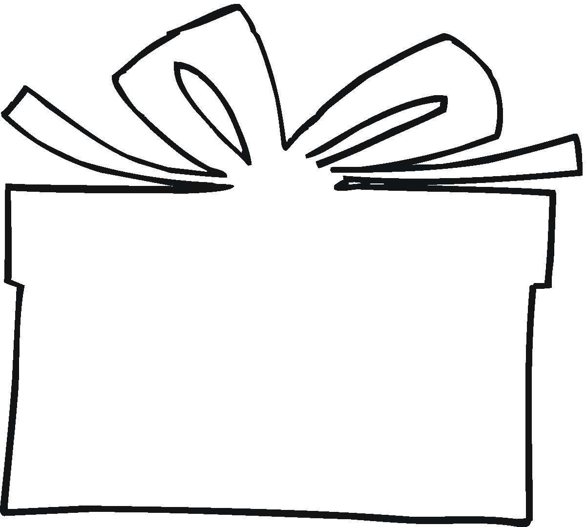 collection of present. Box clipart outline