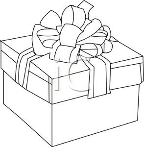 Boxes clipart outline. An of a christmas