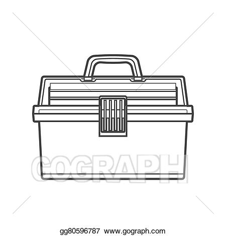 Box clipart outline. Vector stock fishing tackle