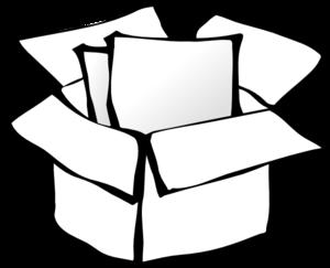 Box clip art at. Boxes clipart outline