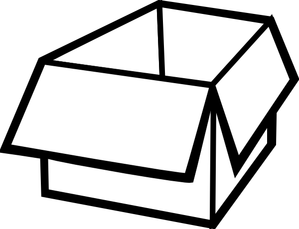 Boxes clipart outline. Box clip art at