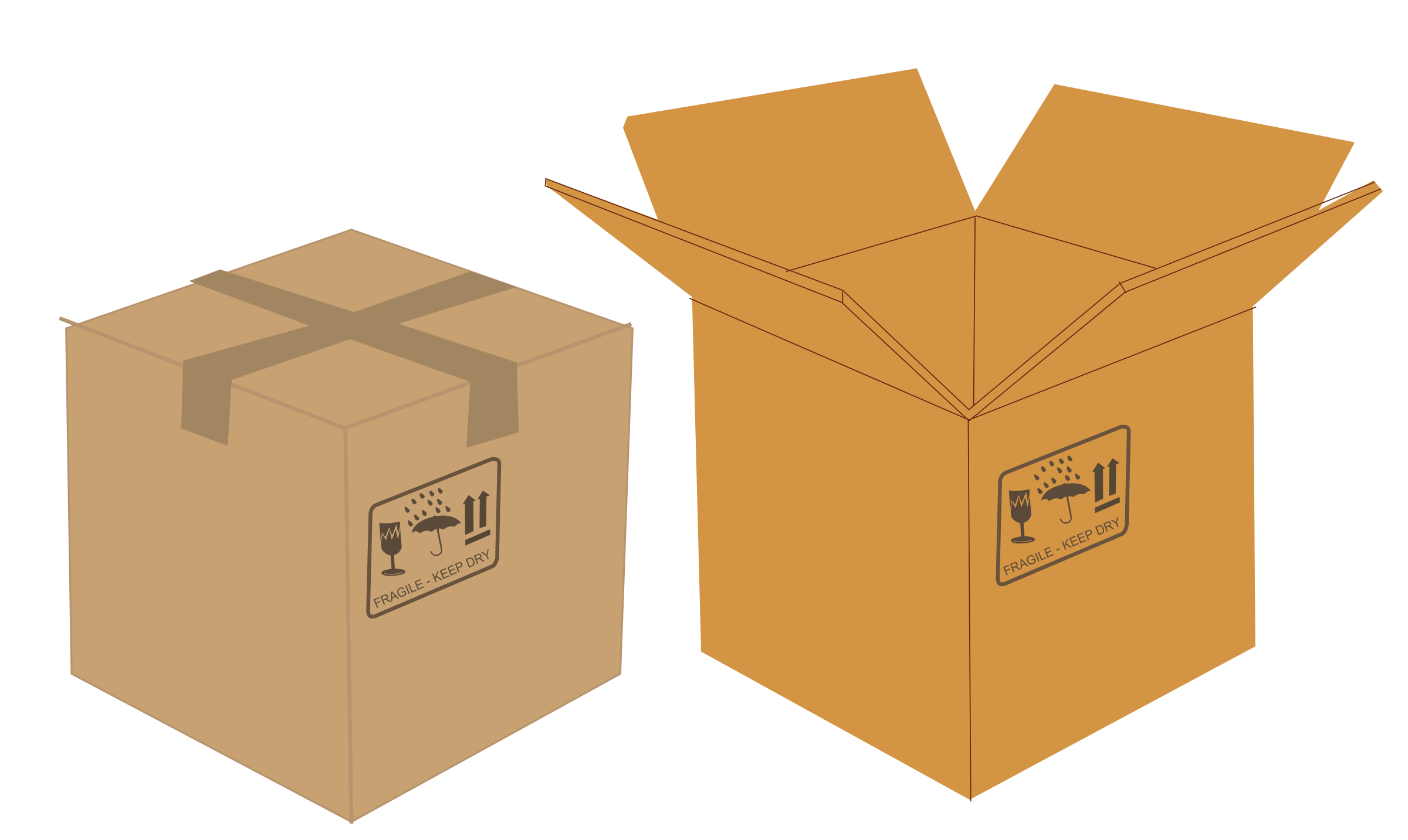 Boxes clipart transparent. Open and closed big