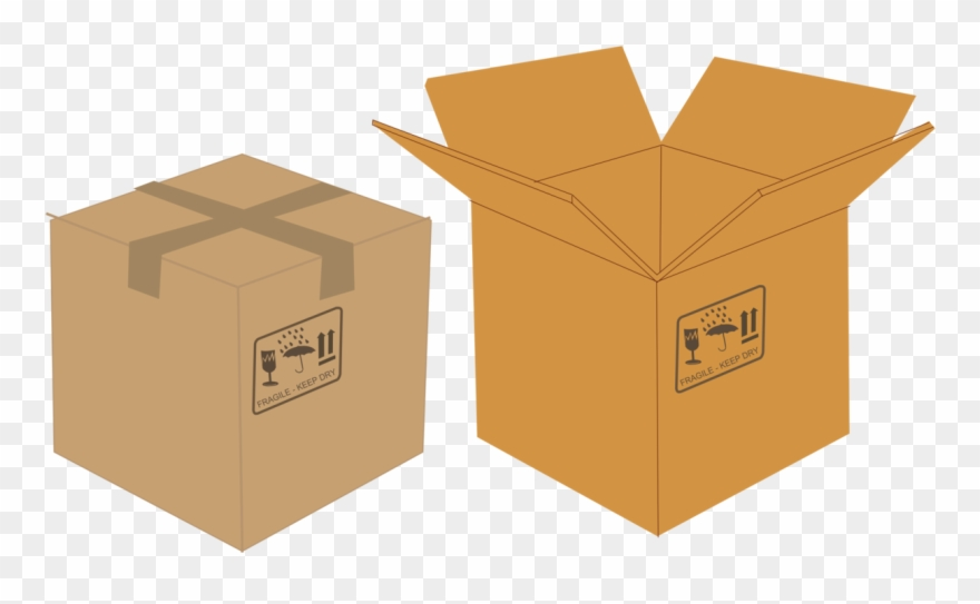 Boxes clipart packaging. Paper cardboard box and