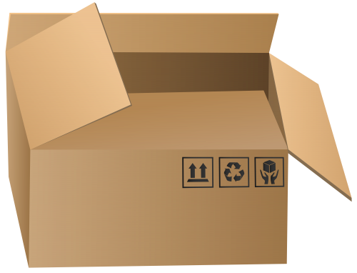 Boxes clipart packaging. Open box png clip