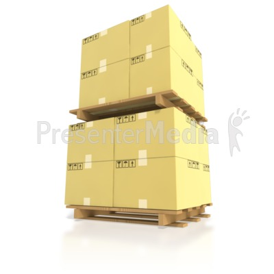Boxes clipart pallet. Shipping stacked on pallets