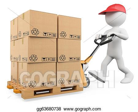 Box clipart pallet. Clip art d white