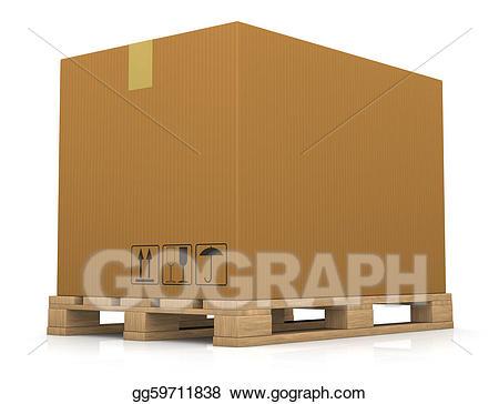 Boxes clipart pallet. Drawing and carton box